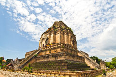Broken pagoda in thailand Stock Image