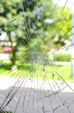 Broken pane. Picture showing a broken pane on a blur background stock photography