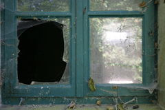 Broken pane Stock Photo