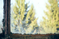 Broken pane of glass Royalty Free Stock Photos