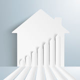 Broken Paper Arrows House Royalty Free Stock Photos