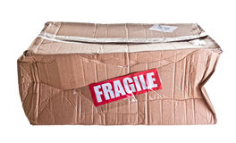 Broken parcel Stock Images