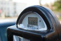 Broken parking meter Stock Image