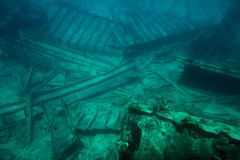 Broken part of shipwreck Stock Image
