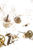 Broken parts of vintage watch Stock Image