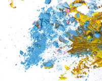 Broken pastel particles and paint Royalty Free Stock Photo