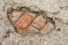 Broken Pavement Stock Images