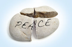Broken peace Royalty Free Stock Photo