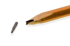 Broken pencil Royalty Free Stock Photography