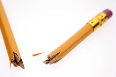 Broken pencil Stock Photos