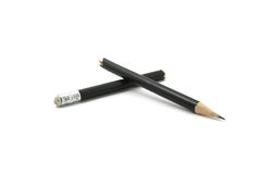 Broken pencil. Isolated on white background Royalty Free Stock Images