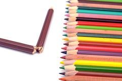 Broken pencil Stock Photos