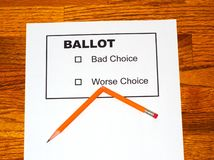 Broken Pencil on Fake Ballot Stock Photo