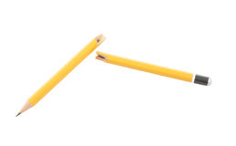 Broken pencil isolated Stock Photo