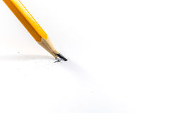 Broken pencil. Isolated on a white background Stock Photo