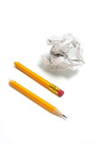 Broken Pencil and Paper Ball Royalty Free Stock Image