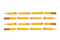 Broken Pencil Pieces stock photography