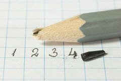 Broken pencil. Royalty Free Stock Photos