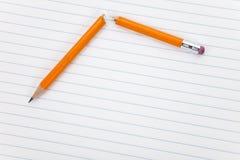 Broken Pencil Stock Photo