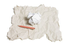 Broken Pencil and Waste Papers Stock Photos