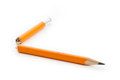 Broken Pencil Stock Image