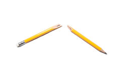 Broken Pencil on white background Royalty Free Stock Image