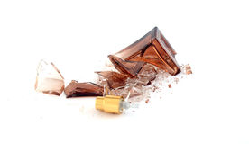 Broken perfume bottle Royalty Free Stock Image