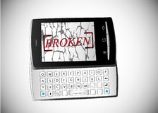 Broken phone Stock Images
