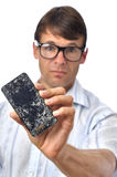 Broken phone Royalty Free Stock Image