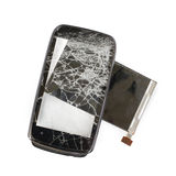 Broken phone black monitor Stock Images