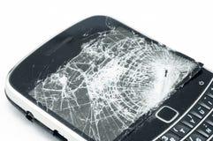 Broken phone closeup Royalty Free Stock Photos