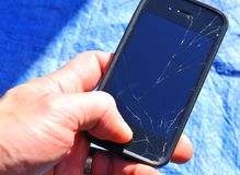 Broken phone royalty free stock photos
