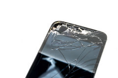 Broken phone screen. Photo of the Broken phone screen stock image
