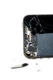 Broken phone screen royalty free stock image