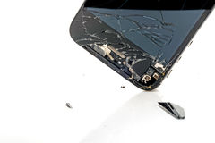 Broken phone screen royalty free stock photos