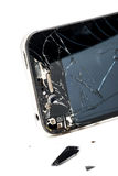 Broken phone screen stock image
