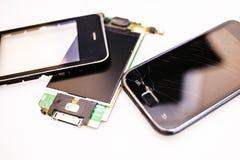 Broken phone. The set of broken phone Stock Image