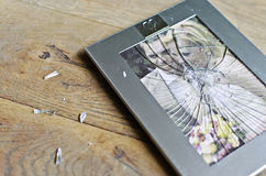 Broken Photo Frame Of Married Couple Royalty Free Stock Photo