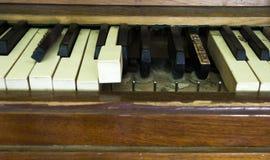 Broken piano Stock Image