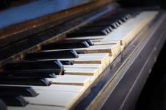 Broken piano keys. Royalty Free Stock Photo