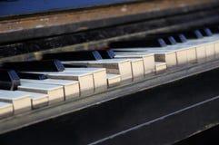 Broken piano keys. Royalty Free Stock Image