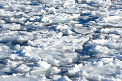 Broken piece ice sea water Stock Photos
