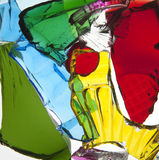 Broken Pieces of Colored glass Stock Photo