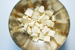 Broken pieces of white chocolate Royalty Free Stock Images