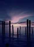 Broken Pier royalty free stock photography