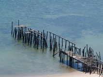 Broken Pier Stock Photography