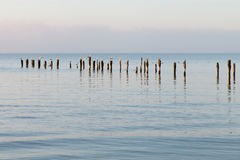 Broken pier. Stock Photo