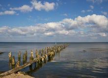 Broken pier. Stock Image