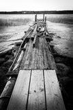 Broken Pier. A broken pier in Porvoo Finland Stock Photo