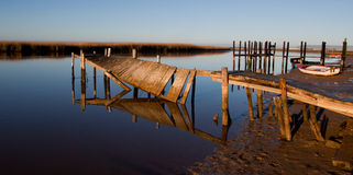Broken pier Stock Photos